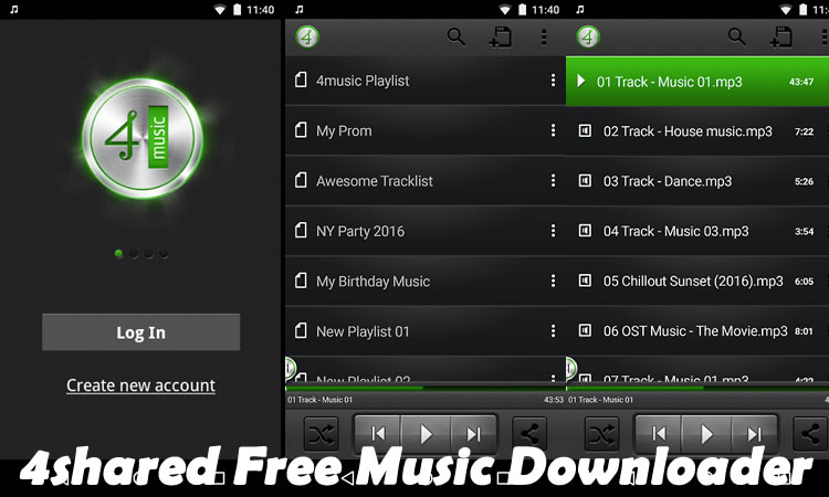 4shared Free Music Downloader For Android