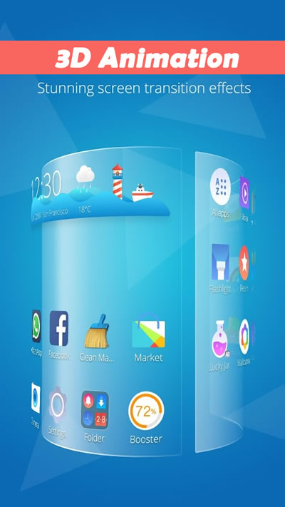 CM Launcher 3D - Stylish Design
