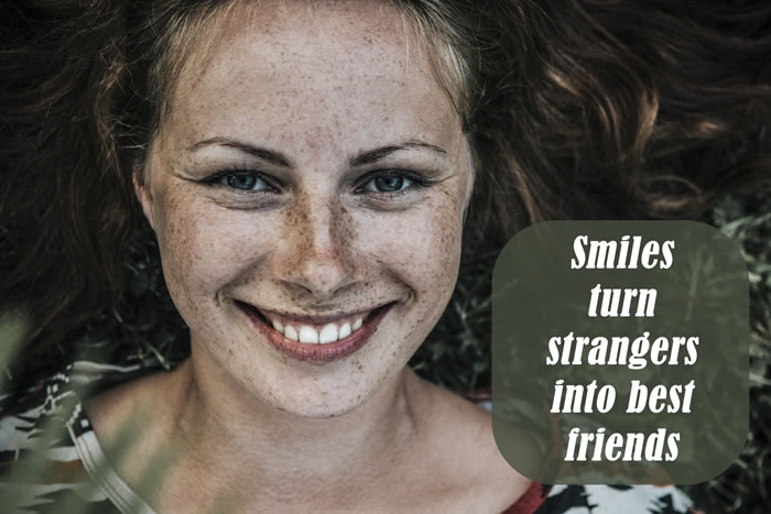 Best Smile Captions for Girls - Smiles turn strangers into best friends