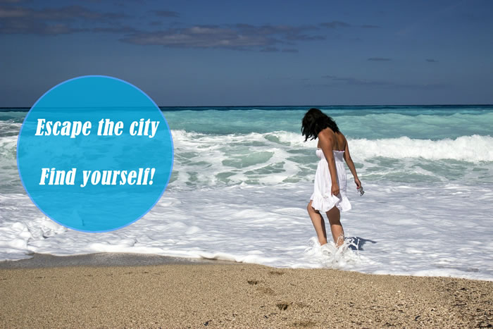 Cute Summer Instagram Captions - Escape the city. Find yourself