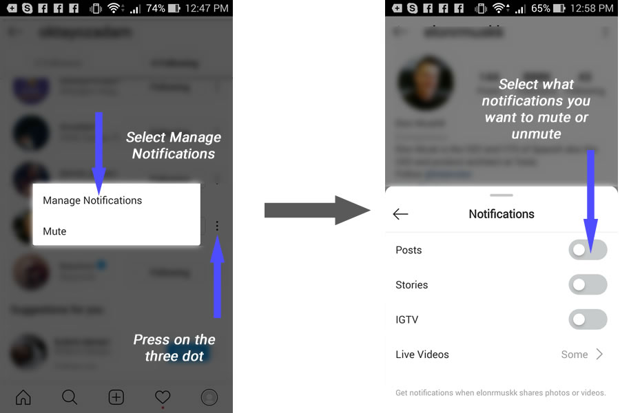How To Mute Someone's Instagram Notifications