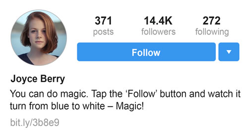 Instagram Bio - You can do magic