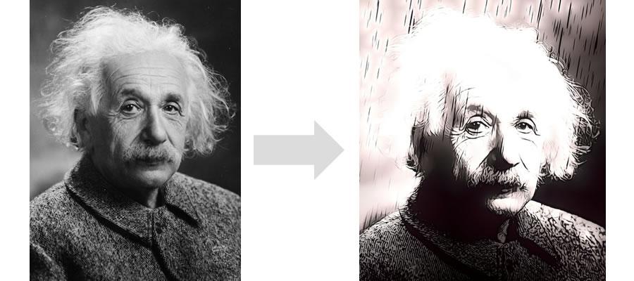 Itoon - Convert Albert Einstein Photo