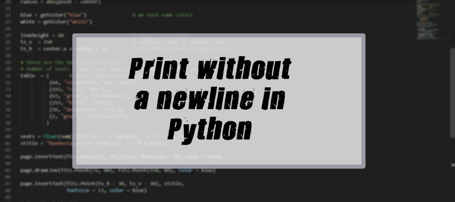 How to Print in a Newline In Python
