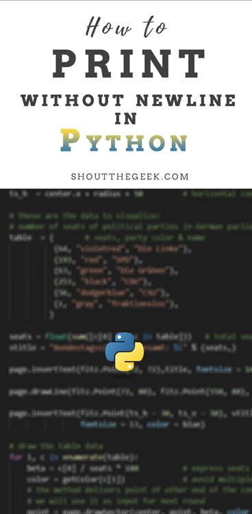 How to Print on the Same Line in Python