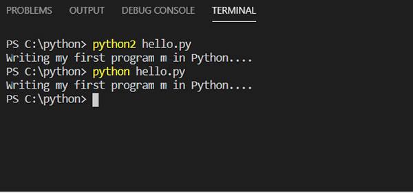 Python Run Different Interpreters From Terminal