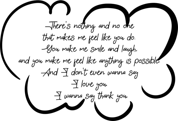 TBH Paragraph - There's nothing and no one that makes me feel like you do