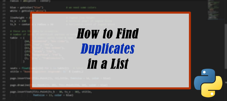 How To Find Duplicates In a List In Python