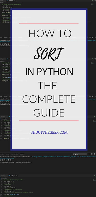 Sorting Techniques in Python